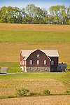 Brushy Ridge Road barn in spring