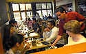 Cochon, a hot new restaurant in New Orleans, gets busy Thursday evening, May 4, 2006..(Cheryl Gerber for New York Times)..