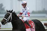 27 February 2010:  Amen Hallelujah and jockey Julien Leparoux winning the Davona Dale Stakes at Gulfstream Park in Hallandale Beach, FL.