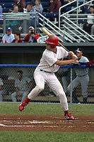 July 16, 2003:  first baseman Bryan Hansen of the Batavia Muckdogs during a game at Dwyer Stadium in Batavia, New York.  Photo by:  Mike Janes/Four Seam Images