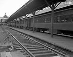 Pittsburgh PA: View of Railroad Passenger Cars at the Pennsylvania Railroad Station.