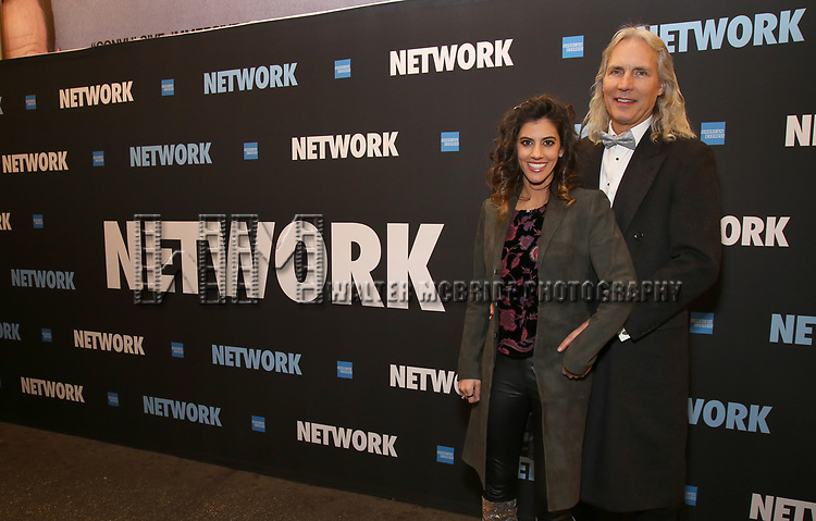 "Jessica Rose and Corey Brunish attends the Broadway Opening Night Performance  for ""Network"" at the Belasco Theatre on December 6, 2018 in New York City."