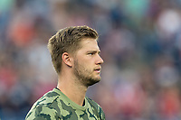 FOXBOROUGH, MA - AUGUST 3: Walker Zimmerman #25 of Los Angeles FC during a game between Los Angeles FC and New England Revolution at Gillette Stadium on August 3, 2019 in Foxborough, Massachusetts.