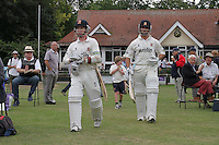 Ryan ten Doeschate of Essex (R) walks out with Adam Wheater to bat after lunch after his dismissal was reversed - Essex CCC vs Gloucestershire CCC - LV County Championship Division Two Cricket at Castle Park, Colchester - 17/08/11 - MANDATORY CREDIT: Gavin Ellis/TGSPHOTO - Self billing applies where appropriate - Tel: 0845 094 6026