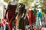 Spain, Canary Islands, La Palma, Los Llanos de Aridane: Calle Real (former Calle General Franco), street festival, display dummies