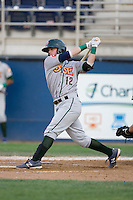 Stephen Bruno #12 of the Boise Hawks at bat during a game against the Yakima Bears at Yakima County Stadium on August 19, 2012 in Yakima, WA.  Yakima defeated Boise 4-3.  (Ronnie Allen/Four Seam Images)