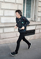 October 17 2017 PARIS FRANCE Ron Wood<br /> Guitarist of the Rolling Stones group is jogging near the Georges V Hotel on Avenue<br /> Georges V.