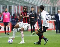 Milano  18-04-2021<br /> Stadio Giuseppe Meazza<br /> Serie A  Tim 2020/21<br /> Milan Genoa<br /> Nella foto:Pierre Kalulu                                      <br /> Antonio Saia Kines Milano