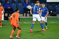 Virgil van Dijk of Netherlands and Ciro Immobile of Italy during the Uefa Nation A League Group 1 football match between Italy and Netherlands at Atleti azzurri d Italia Stadium in Bergamo (Italy), October, 14, 2020. Photo Andrea Staccioli / Insidefoto