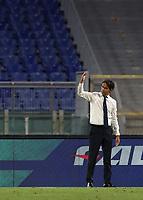 Football, Serie A: S.S. Lazio - Cagliari, Olympic stadium, Rome, July 23, 2020. <br /> Lazio's coach Simone Inzaghi celebrates after winning 2-1 the Italian Serie A football match between Lazio and Cagliari at Rome's Olympic stadium, Rome, on July 23, 2020. <br /> UPDATE IMAGES PRESS/Isabella Bonotto