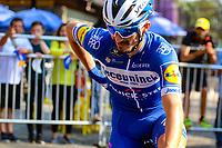 MEDELLIN - COLOMBIA, 15-02-2019: Julian Alaphilippe (FRA), Deceuninck - Quick Step Floors (BEL), durante la cuarta etapa del Tour Colombia 2.1 2019 con un recorrido de 144 Km, que se corrió con salida y llegada en el estadio Atanasio Girardot de la ciudad de Medellín. / Julian Alaphilippe (FRA), Deceuninck - Quick Step Floors (BEL), during the four stage of 144 km of Tour Colombia 2.1 2019 that ran with start and arrival in Atanasio Girardot stadium in Medellin city.  Photo: VizzorImage / Anderson Bonilla / Cont