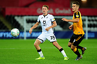 George Byers of Swansea City in action during the Carabao Cup Second Round match between Swansea City and Cambridge United at the Liberty Stadium in Swansea, Wales, UK. Wednesday 28, August 2019.