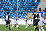 Brian Koglin (weiss, 4) im Spiel gegen den SV Waldhof Mannheim beim Spiel in der 3. Liga, SV Waldhof Mannheim - 1. FC Magdeburg.<br /> <br /> Foto © PIX-Sportfotos *** Foto ist honorarpflichtig! *** Auf Anfrage in hoeherer Qualitaet/Aufloesung. Belegexemplar erbeten. Veroeffentlichung ausschliesslich fuer journalistisch-publizistische Zwecke. For editorial use only. DFL regulations prohibit any use of photographs as image sequences and/or quasi-video.