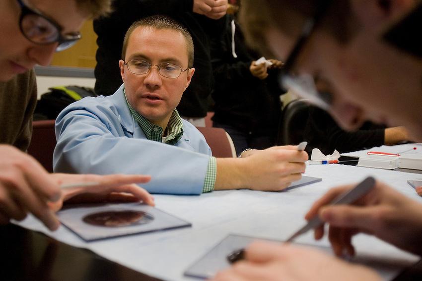 Professor James Ferri in his Chemical Engineering classroom on Wed, Nov 28th ,2007..4206