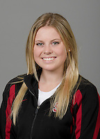 STANFORD, CA - September 27th, 2011: Stanford Synchronized Swimming athlete portrait.