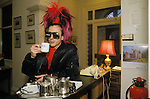 Tony James front man and lead singer of Sigue Sigue Sputnik. Punk band 1980s Bed and Breakfast hotel Newcastle Upon Tyne. UK