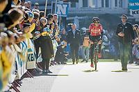 Tiesj Benoot (BEL/Lotto-Soudal) at the (new) race start in Antwerpen<br /> <br /> 101th Ronde Van Vlaanderen 2017 (1.UWT)<br /> 1day race: Antwerp › Oudenaarde - BEL (260km)