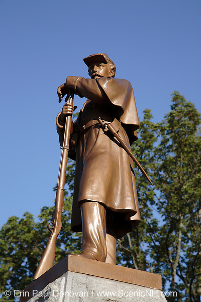 Candia Soldier?s Monument in Candia, New Hampshire USA.