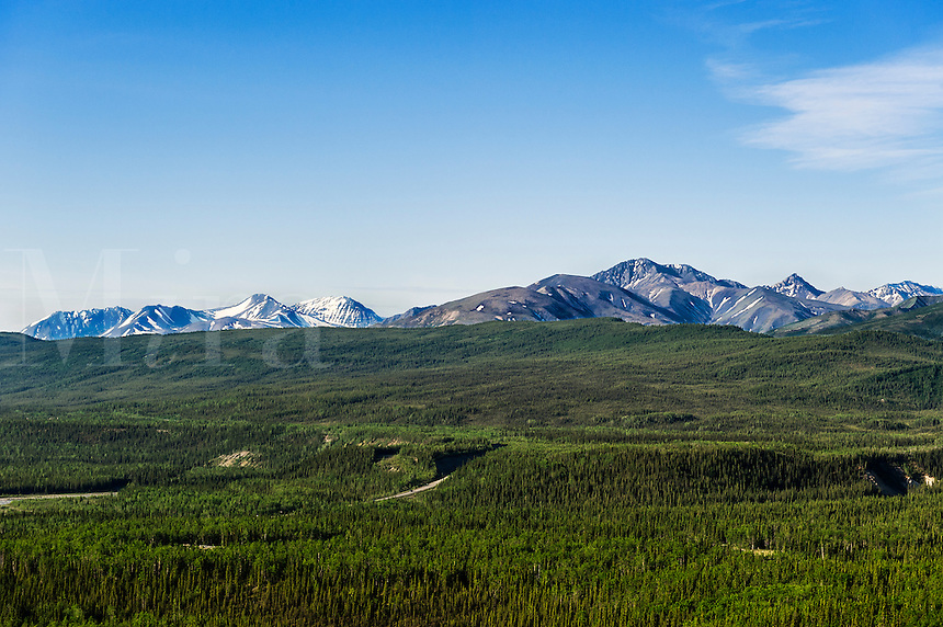 Mountain landscape in Danali National Park, Alaska, USA