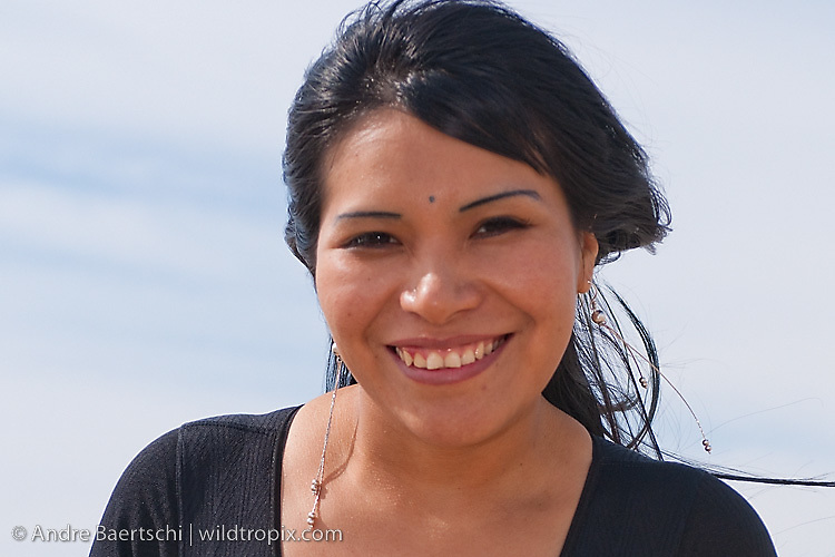 Portrait of Maribel Sol, a young Peruvian woman from Lima