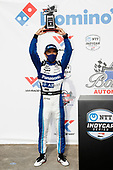 #30: Takuma Sato, Rahal Letterman Lanigan Racing Honda, podium