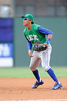 First baseman Mark Threlkeld (26) of the Lexington Legends in a game against the Greenville Drive on Friday, August 18, 2013, at Fluor Field at the West End in Greenville, South Carolina. Lexington won, 5-0. (Tom Priddy/Four Seam Images)