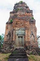 Cambodia.  Bakong Temple, near Siem Reap.  Shiva Shrine.