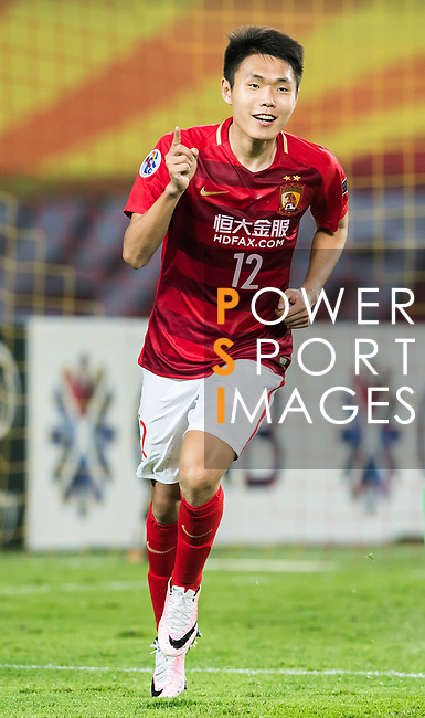Wang Shangyuan of Guangzhou Evergrande FC celebrates during their AFC Champions League 2017 Match Day 1 Group G match between Guangzhou Evergrande FC (CHN) and Eastern SC (HKG) at the Tianhe Stadium on 22 February 2017 in Guangzhou, China. Photo by Victor Fraile / Power Sport Images