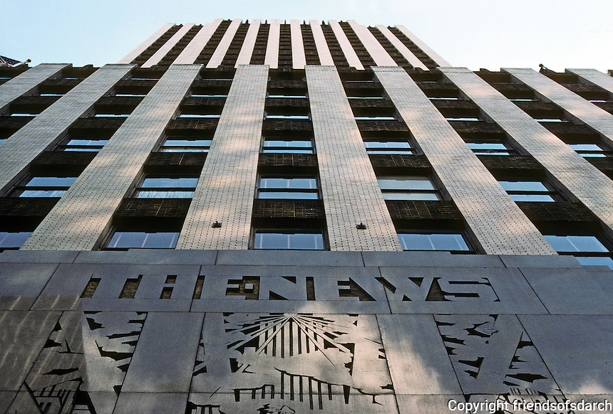 New York: Daily News Building--Looking Up. Photo '78.