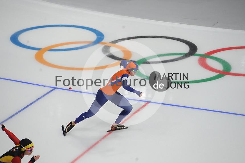 OLYMPIC GAMES: PYEONGCHANG: 18-02-2018, Gangneung Oval, Long Track, 500m Ladies, Lotte van Beek (NED), ©photo Martin de Jong