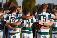 Ealing Trailfinders players following the Greene King IPA Championship match between Ealing Trailfinders and Cornish Pirates at Castle Bar , West Ealing , England  on 29 September 2018. Photo by Match action Paul Paxford / PRiME Media Images.