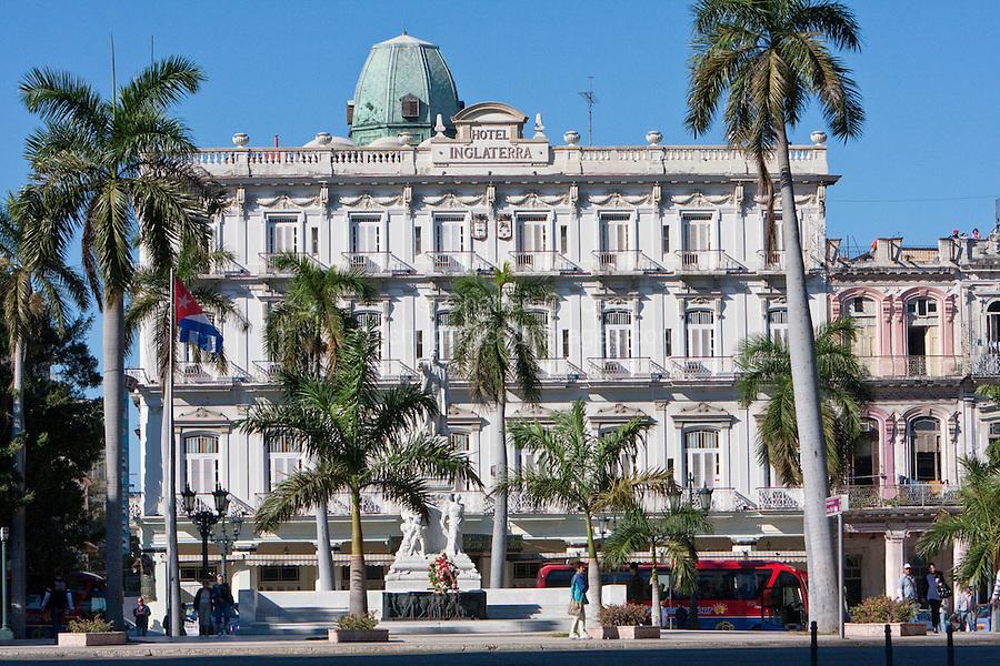 Cuba, Havana.  Hotel Inglaterra, Central Havana.