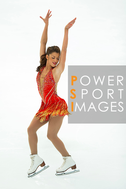 TAIPEI, TAIWAN - JANUARY 23:  Samantha Cesario of USA performs her routine at the Ladies Short Program event during the Four Continents Figure Skating Championships on January 23, 2014 in Taipei, Taiwan.  Photo by Victor Fraile / Power Sport Images *** Local Caption *** Samantha Cesario