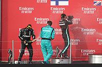 1st November 2020, Imola, Italy; FIA Formula 1 Grand Prix Emilia Romagna, Race Day; 44 Lewis Hamilton GBR, Mercedes-AMG Petronas Formula One Team, Leo Stevens Mercedes-AMG Petronas Formula One Team, 77 Valtteri Bottas FIN, Mercedes-AMG Petronas Formula One Team