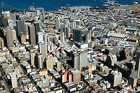 aerial photograph Union Square San Francisco, California