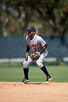 Detroit Tigers Dawel Lugo (71) during an Instructional League game against the Atlanta Braves on October 10, 2017 at the ESPN Wide World of Sports Complex in Orlando, Florida.  (Mike Janes/Four Seam Images)