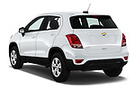 Car pictures of rear three quarter view of 2018 Chevrolet Trax LS 5 Door SUV Angular Rear