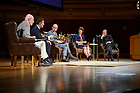 """September 25, 2019; The 2019-20 Notre Dame Forum: """"'Rebuild My Church': Crisis and Response,"""" with a discussion on """"The Church Crisis: Where Are We Now?"""" held at the DeBartolo Performing Arts Center. (Photo by Barbara Johnston/University of Notre Dame)"""