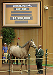 LEXINGTON, KY - September 13: Hip # 399 Tapit - Hooh Why consigned by Baccari Bloodstock sold for $1,200,000 becoming the session topper for the 2nd day of the September Yearling sale at Keeneland.  September 13, 2016 in Lexington, KY (Photo by Candice Chavez/Eclipse Sportswire/Getty Images)