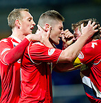 St Johnstone v Ross County...17.11.12      SPL.Iain Vigurs celebrates the equaliser with Richie Brittain.Picture by Graeme Hart..Copyright Perthshire Picture Agency.Tel: 01738 623350  Mobile: 07990 594431