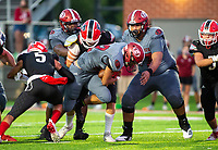 Gilberto Dominguez (22) of Springdale<br /> goes in for a touchdown against Farmington during the 2nd quarter at Cardinals Stadium, Farmington, Arkansas on Friday, September 11, 2020 / Special to NWA Democrat-Gazette/ David Beach
