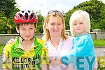 Sean McGillicuddy Killorglin CC gets best wishes from mum Mary and brother Charlie at the start of the Kerry Youth Cycling tour in Beaufort on Saturday   Copyright Kerry's Eye 2008