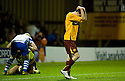 26/08/2010   Copyright  Pic : James Stewart.sct_jsp009_mwell_v_odense  .:: JAMIE MURPHY AFTER HE HITS THE POST WITH HIS PENALTY  :: .James Stewart Photography 19 Carronlea Drive, Falkirk. FK2 8DN      Vat Reg No. 607 6932 25.Telephone      : +44 (0)1324 570291 .Mobile              : +44 (0)7721 416997.E-mail  :  jim@jspa.co.uk.If you require further information then contact Jim Stewart on any of the numbers above.........