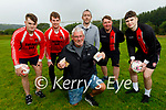 Members of Ferry Rangers FC in Tarbert celebrating a 10,000 euro windfall from Paddy Power at the club on Tuesday. Kneeling: John McGinley (Chairman). Back l to r: Eamon O'Callaghan, Cillian Langan, John O'Dowd, Patrick Griffin and Paddy O'Callaghan.