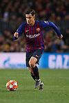 UEFA Champions League 2018/2019.<br /> Quarter-finals 2nd leg.<br /> FC Barcelona vs Manchester United: 3-0.<br /> Philippe Coutinho.