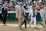I'll Have Another (no. 19), ridden by Mario Gutierrez and trained by Doug O'Neill, wins the 138th running of the grade 1 Kentucky Derby for three year olds on May 05, 2012 at Churchill Downs in Louisville, Kentucky.  (Bob Mayberger/Eclipse Sportswire)