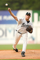 Birmingham Barons starting pitcher Adam Russell delivers the ball to the plate versus the Chattanooga Lookouts at Hoover Metropolitan Stadium in Birmingham, AL, Sunday, August 20, 2006.