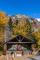 Rustic cabin at Lost River Gorge.