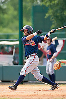 Fernando De Los Santos of the Gulf Coast League Braves during the game against the Gulf Coast League Tigers July 3 2010 at the Disney Wide World of Sports in Orlando, Florida.  Photo By Scott Jontes/Four Seam Images