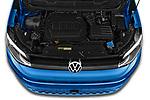 Car Stock 2021 Volkswagen Caddy California-Maxi 5 Door Camper Van Engine  high angle detail view